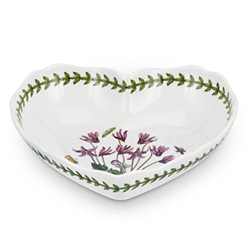 - Portmeirion Botanic Garden Scalloped Edge Heart Shaped Dish