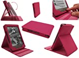 Emartbuy AMAZON KINDLE 4 TOUCH 2011 WI-FI 6 INCH E INK DISPLAY LUXURY MULTIFUNCTIONAL/MULTI ANGLE FOLIO/COVER/STAND CASE IN PINK