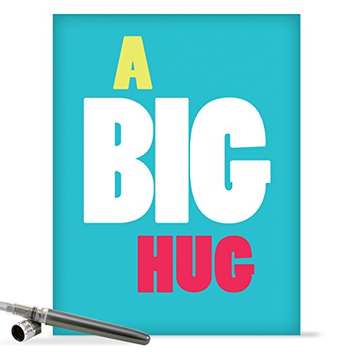Oversized greeting cards amazon j9652 jumbo blank all occasion card big hug with envelope extra large version 85 x 11 m4hsunfo