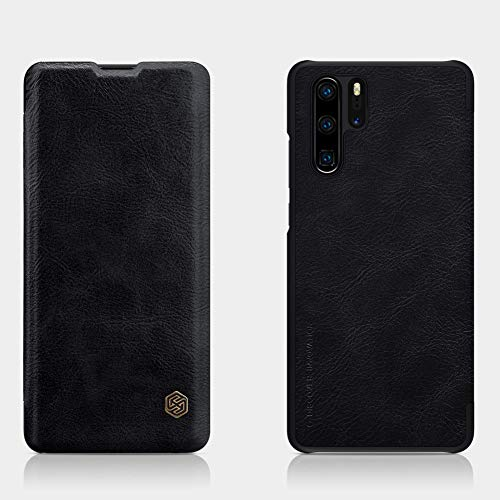 Nillkin Qin Series Royal Leather Flip Case Cover for Huawei P30 Pro  Black