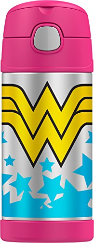 Thermos Funtainer 12 Ounce Bottle, Wonder Woman ()