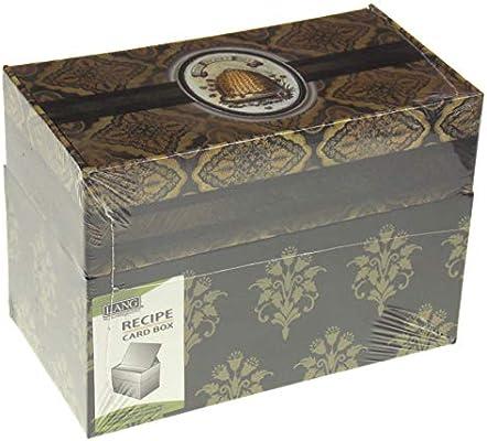 Lang Honey & Grey Caja de recetas con tarjetas de recetas adicionales, obra de arte de Lori Siebert (2 recetas de bonificación incluidas de Hickoryville): Amazon.es: Hogar