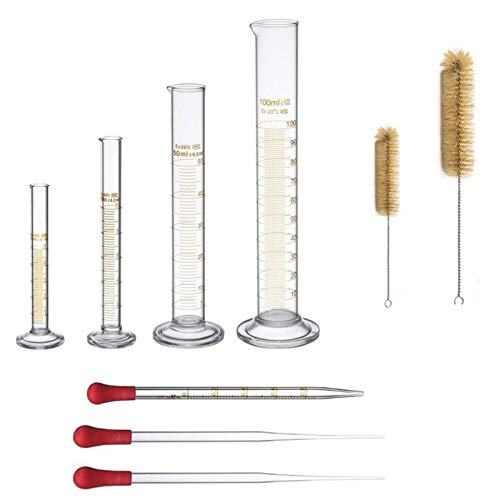 Thick Glass Graduated Measuring Cylinder Set 5ml