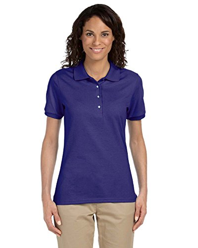 b2f1fdc5 Womens Purple Jerzees Polo Shirt Amazon. Jerzees Jersey Polo Shirt with  Spotshield ...