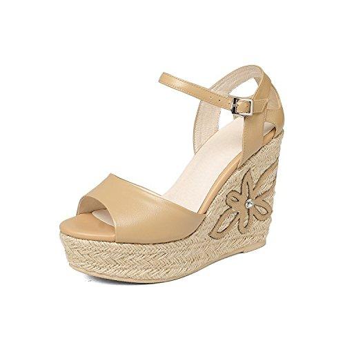 AJUNR di tavole Moda tacchi Alla Sandali pendenza camel tacchi Donna alti Dita 38 34 11cm sexy Da impermeabile scarpe gPg8Wnr