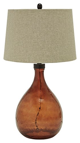 Signature Design by Ashley L430344 Arayna Table Lamp, Brown (Brown Glass Table Lamp)