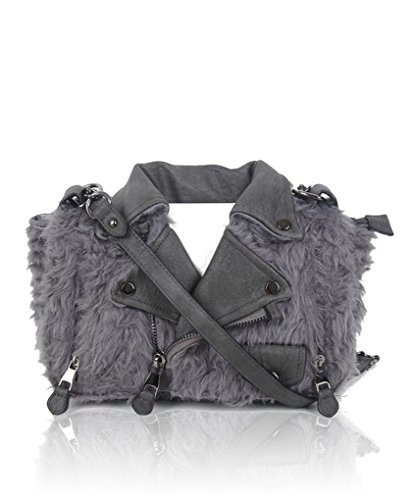 LeahWard Shaped BAG Shoulder Novelty Swan D Holiday For JACKET Jacket FUR Bags Women Tote Wedding GREY Handbags grgBwTnq