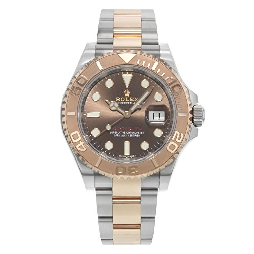 Rolex Yacht-Master Chocolate Dial Steel and 18K Everose Gold Oyster Mens Watch -