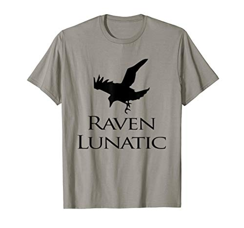 Raven Lunatic Bird Gunny T shirt For Raven Lovers Women Men ()