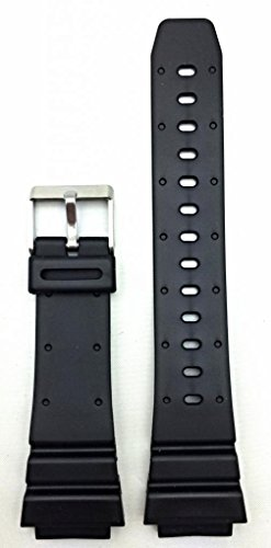 18mm Black Rubber Watch Band -- Comfortable and Durable PVC Material
