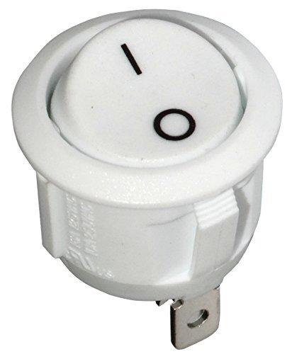 6A//250V 20A//12V Blanco C10677 1 posicion AERZETIX: Interruptor pulsador conmutador basculantes de boton SPST OFF- ON