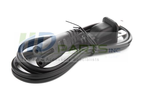 2 prong Power Cord for Vizio & Westinghouse LED LCD TV 19