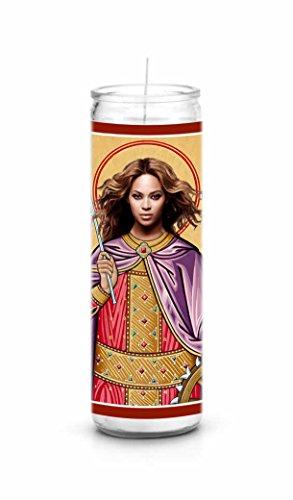 Beyonce Knowles Celebrity Prayer Candle - Funny Saint Candle - 8 inch Glass Prayer Votive - 100% Handmade in USA - Novelty Celebrity Gift - Celeb Glasses