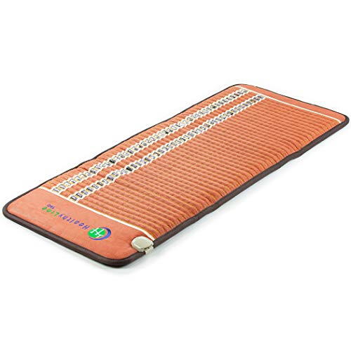 HealthyLine - InfraMat Pro® - Far Infrared Natural Amethyst Gemstones Heating Mat - 7.8 Hz PEMF Therapy - Tourmaline Obsidian Crystals - 4 Settings with Auto Shut Off (60in x 24in Firm) (Massage Shiatsu Mat Thai)