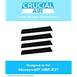 4 High Efficiency Replacement Honeywell Carbon Filters Fit FD-070, HFD-120, HFD-12-Q, HFD-12-TGT, HFD-123-HD, HFD300, HFD310, HFD314, HFD320, HFD323-TGT & HFD324, Compare to Part # HRF-K2, Designed & Engineered by Crucial Air4