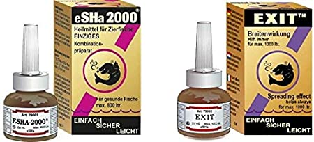 ESHA 2000, 20 ml, Exit 20 ml, confezione risparmio per pesci ornamentali