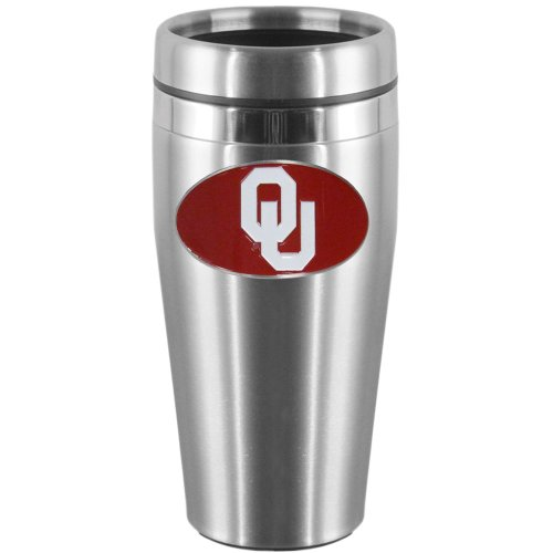 NCAA Oklahoma Sooners Steel Travel Mug Oklahoma Sooners Stainless Travel Mug