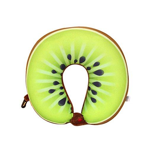 yinpinxinmao Cute forma de U cuello almohada cojín Fruta Suave para viajes coche sofá oficina decoración, Igual a la foto