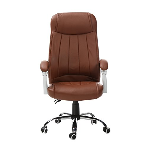 uter Office Desk Chair Commercial Executive Task Ergonomic Swivel High Back (Brown) (Contour Upholstered Stools)