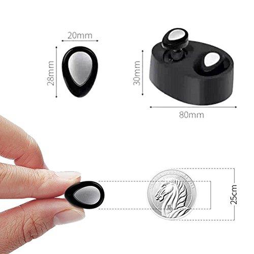 Sport Cuffie Bluetooth, Bluetooth 4.1Stereo senza fili Cuffie auricolari Cuffie con Portable Sovralimentazione per Jogging/Allenamento/Tempo libero/Ciclismo Per iphone8, iphonex e dispositivi Android