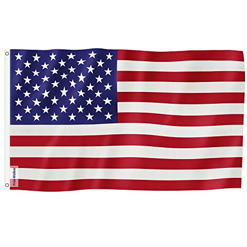 American Flag 3x5 Ft,Nylon US Flags with Bright Vivid Color and Premium Material for Outdoor,Longest Lasting USA Flags 3x5 for Outside(Breeze Style)