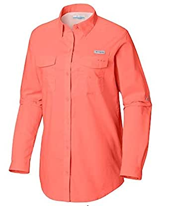 Columbia Women's Standard Bonehead II W Long Sleeve Shirt, Lychee, X-Large