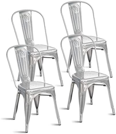 HEQUSigns Stackable Dining Chair Set of 4