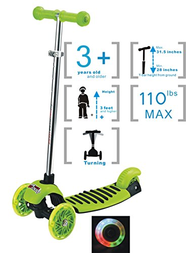 Voyage Sports Scooter for Kids - Mini Aluminum 3 Wheel with Toddler Kick, Lean 2 Turn, for age 3 to 9