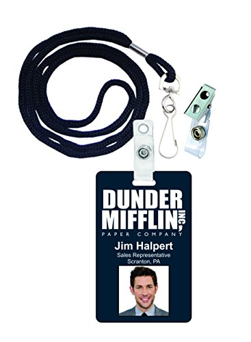 Jim Halpert The Office Novelty ID Badge Film Prop for Costume and Cosplay • Halloween and Party Accessories -