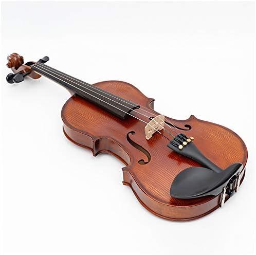 Color : Brown ACHKL Matte universal pattern handmade wood violin beginner violin student Matt popularity ACHKL