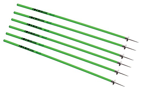 Kwik Goal Coaching Sticks (6 Set), Hi-Vis Green
