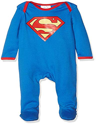 LIANGSM Fashion Baby Sleepsuit Superhero Jumpsuit (12-18months, Blue Superman)