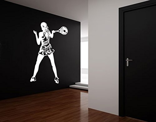 Wall Decal Tennis Player, Color: Aubergine, 57.5x39.4 by PPS. Imaging GmbH (Image #4)