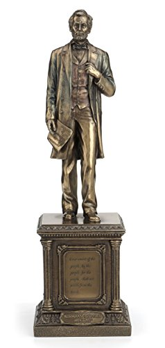 Former President Abraham InchHonest Abe Inch Lincoln on Pedestal 14 Inch Cold Cast Bronze Statue