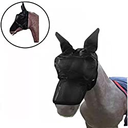 OVERMAL HOT SALE Fly Mask Horse Mask Protect Ears Nose Sun Protection Styles Prevent Flies And Bugs