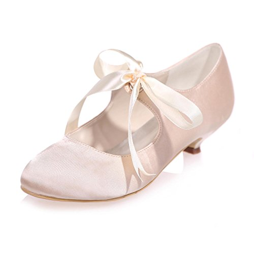 Silk Party YC Mariage amp; Femmes Champagne Party Pompes Mid Night L 9001 Chaussures More Pour Couleurs De 05 0FFUfw