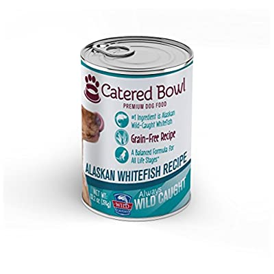 Catered Bowl Wild Caught Alaskan Whitefish Pet Food for Dog, 13.2 oz, Case of 12