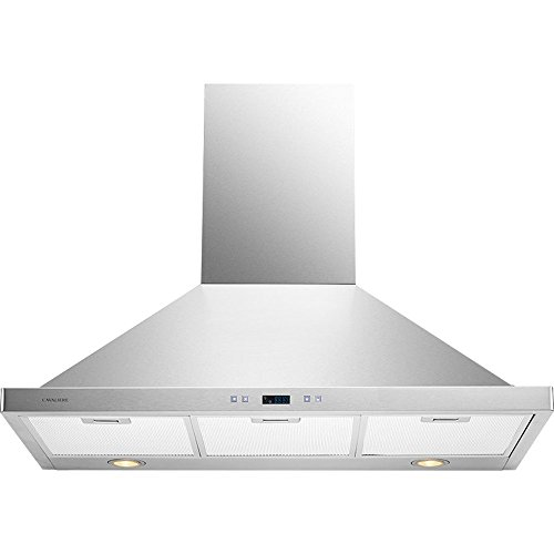 CAVALIERE 36'' Wall Mounted Stainless Steel Kitchen Range Hood 900 CFM SV218B2-36 by CAVALIERE