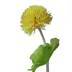 "Lily Garden 10.5"" Mini Artificial Hydrangea Dandelion (6, Yellow) 41"