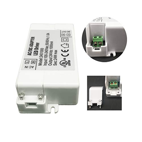 YAYZA 1-Pack Premium IP44 12V 5A 60W Low Voltage LED Driver Transformer AC DC Switching Power Supply