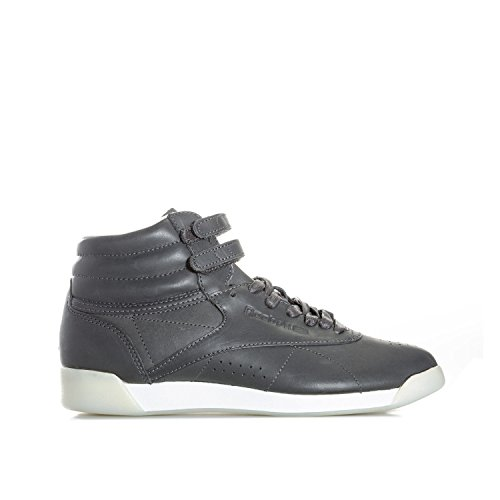 35 Damen Grau Freestyle Face Sneaker Reebok Grey Hi S8qT6
