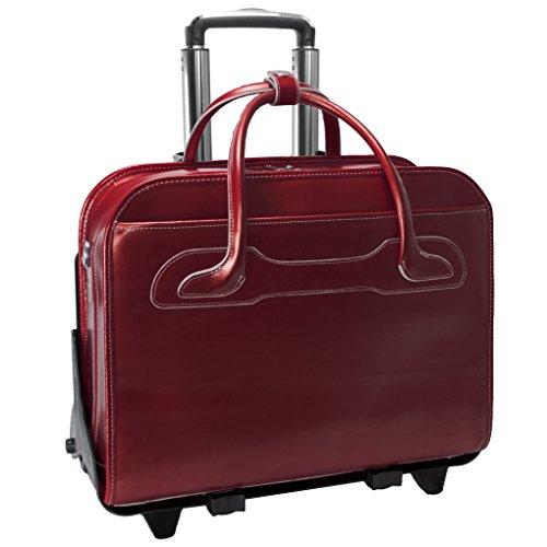 McKleinUSA Willowbrook 94986 Red Detachable-Wheeled Ladies' Briefcase ()