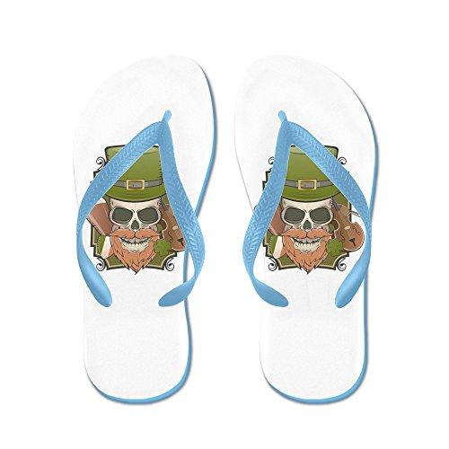 Vraiment Teague Mens St Patricks Irlandais Crâne En Caoutchouc Flip Flops Sandales Caraïbes Bleu