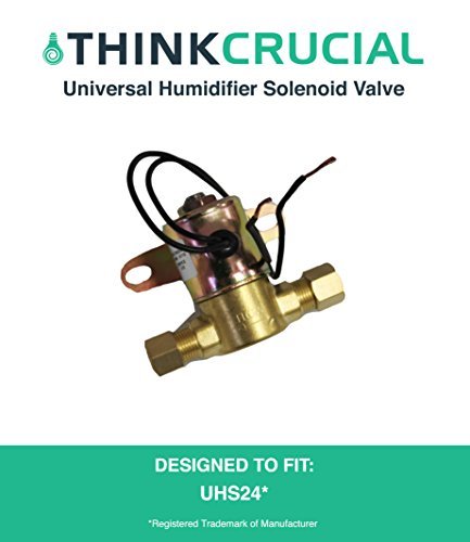 Price comparison product image Universal Humidifier Solenoid Valve, Compare to Aprilaire Part No. 4040, GeneralAire Part No. 990-53, Honeywell Part No. 32001639-002 & Skuttle Part No. A01-0814-148, by Think Crucial