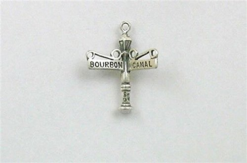 (Sterling Silver Bourbon & Canal Street Sign Charm Jewelry Making Supply, Pendant, Charms, Bracelet, DIY Crafting by Wholesale Charms)