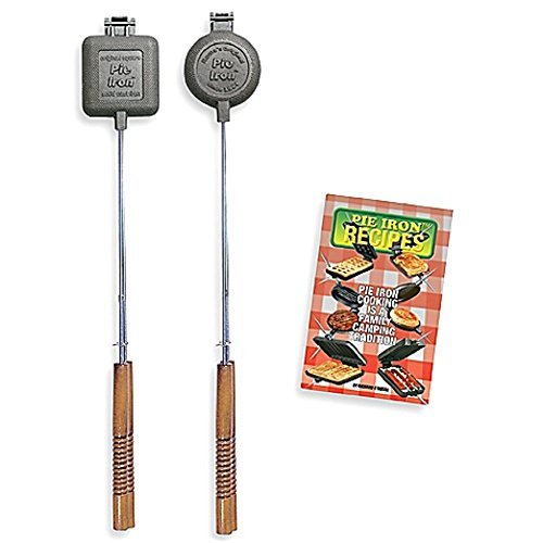Pie Iron Gift Set (Set of 2 Iron + Recipe Book), Perfect For Outdoor Use by Rome Industries