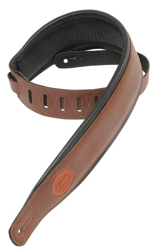 Amazon Lightning Deal 60% claimed: Levy's Leathers MSS2-BRN Garment Leather Guitar StrapBrown