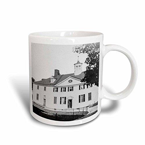 3dRose Scenes from the Past Magic Lantern Slides - George Washingtons House Mount Vernon Virginia Circa 1890s - 11oz Mug - Mount Vernon Outlets