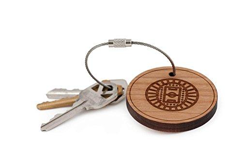 Soccer Stadium Keychain, Wood Twist Cable Keychain - Small
