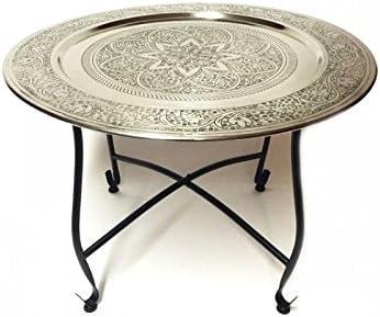 Marrakech Accessoires – Mesa redonda auxiliar mesa de metal ...